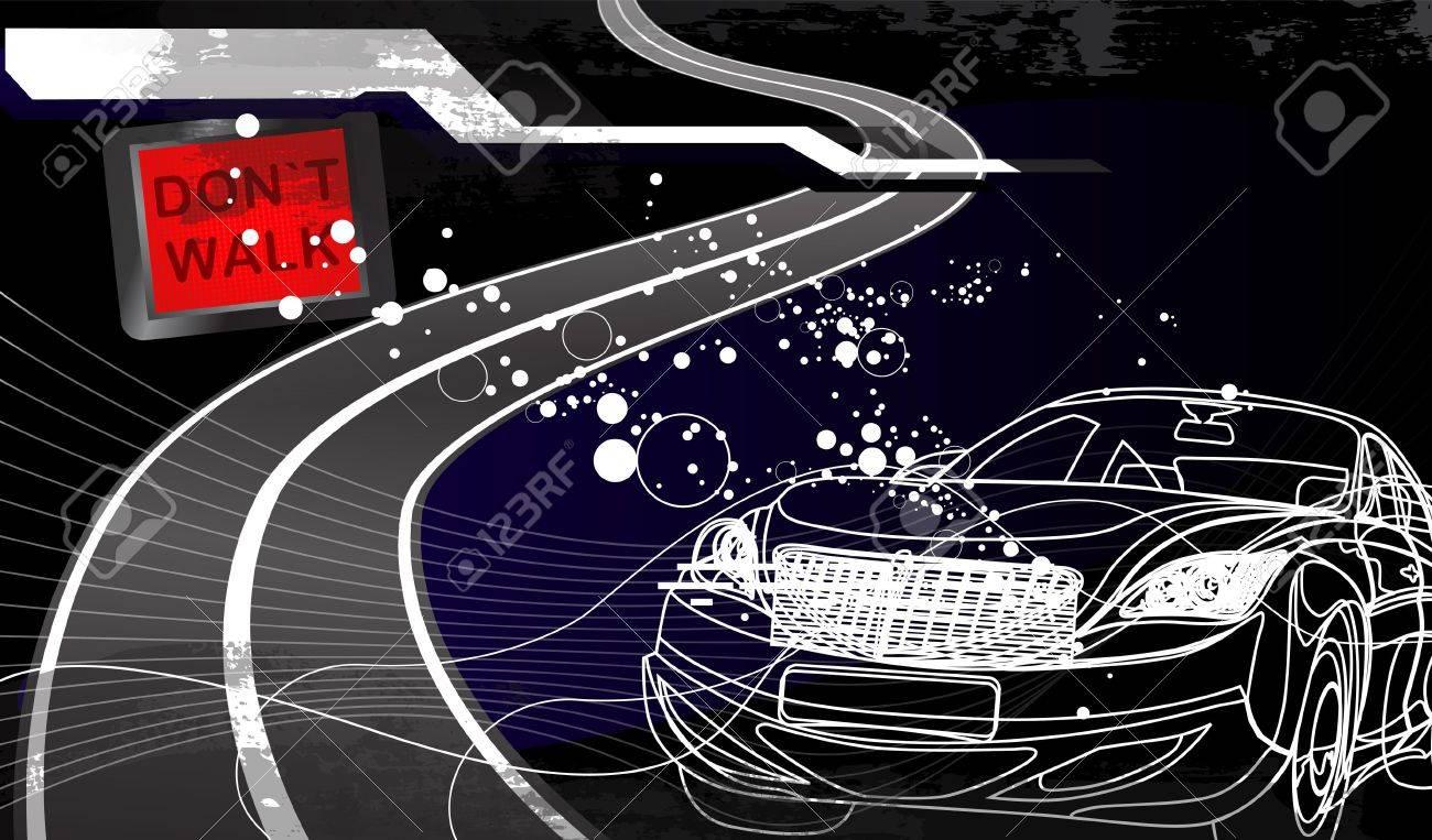 car racing design in black background Stock Vector - 12812117
