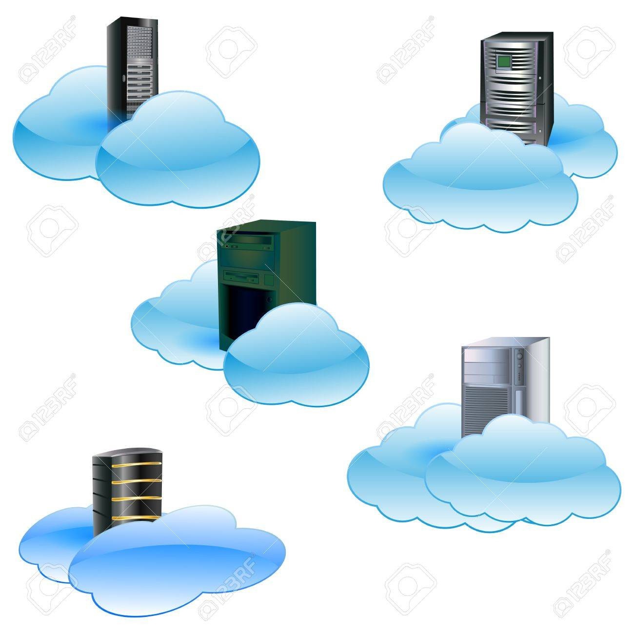 Cloud computing concept Stock Vector - 12812215