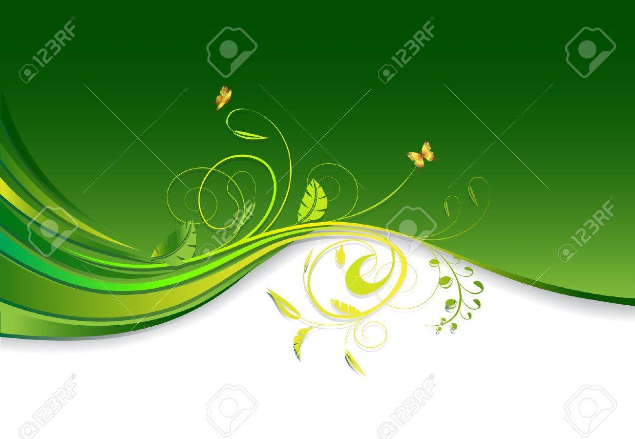 floral ornament design with copy space - 13548766