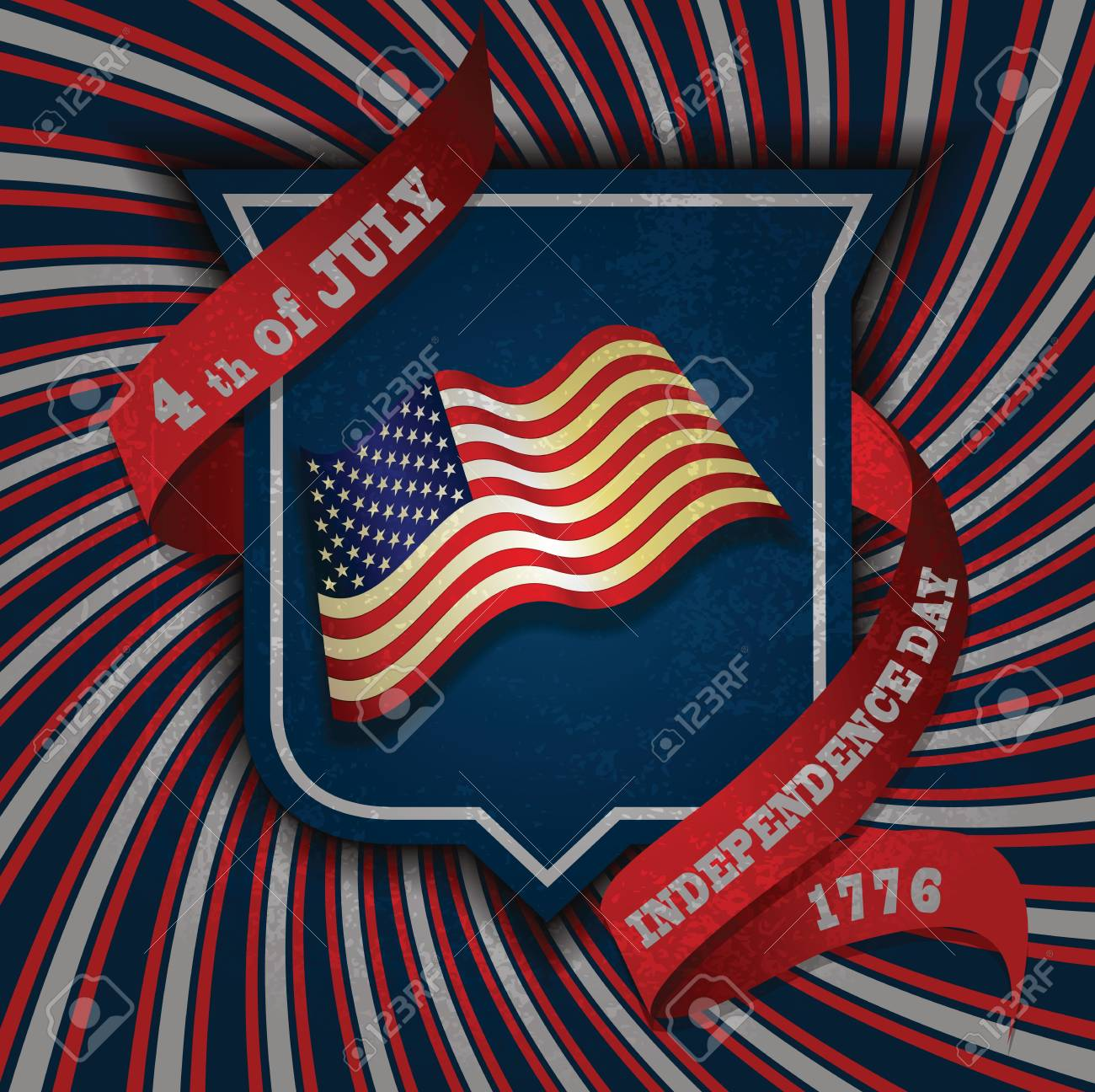 Vector independence day shield   poster Stock Vector - 13840268