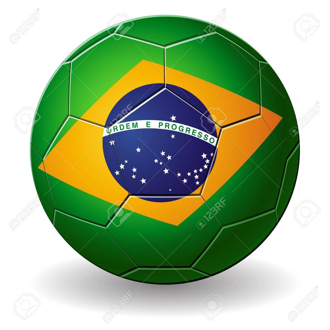 de4e6bfe1 Design of a Brazilian soccer ball isolated on a white background Stock  Vector - 13986691