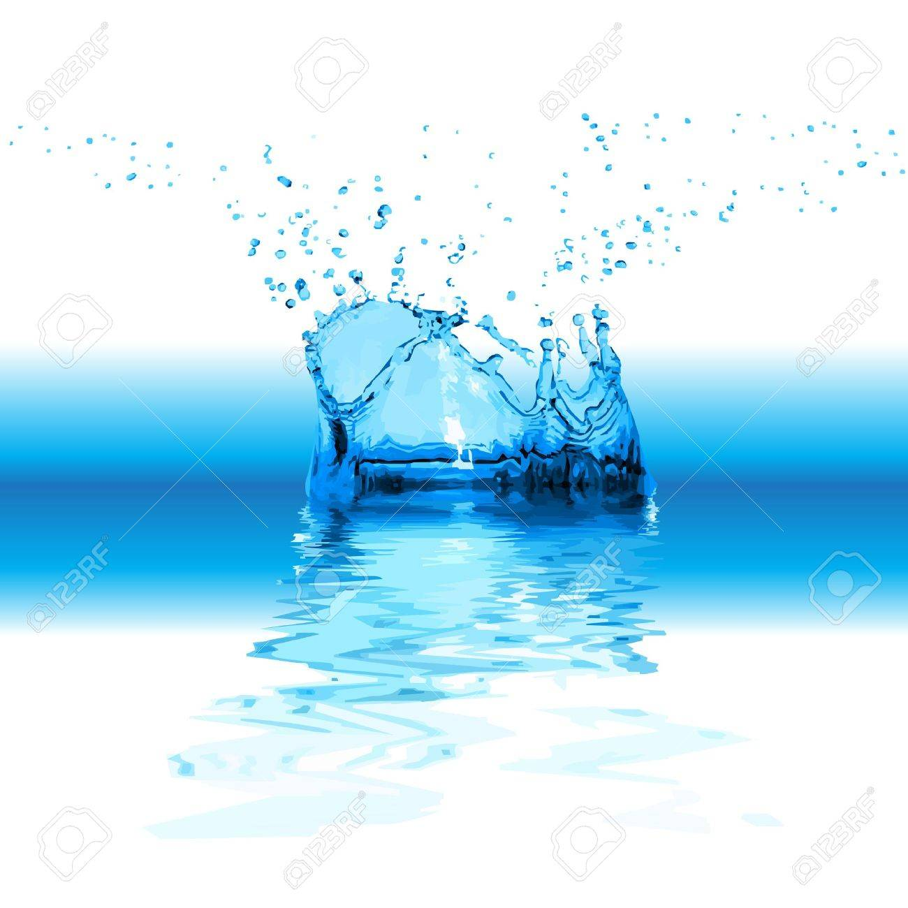 Splash water isolated on white background Stock Vector - 15732319