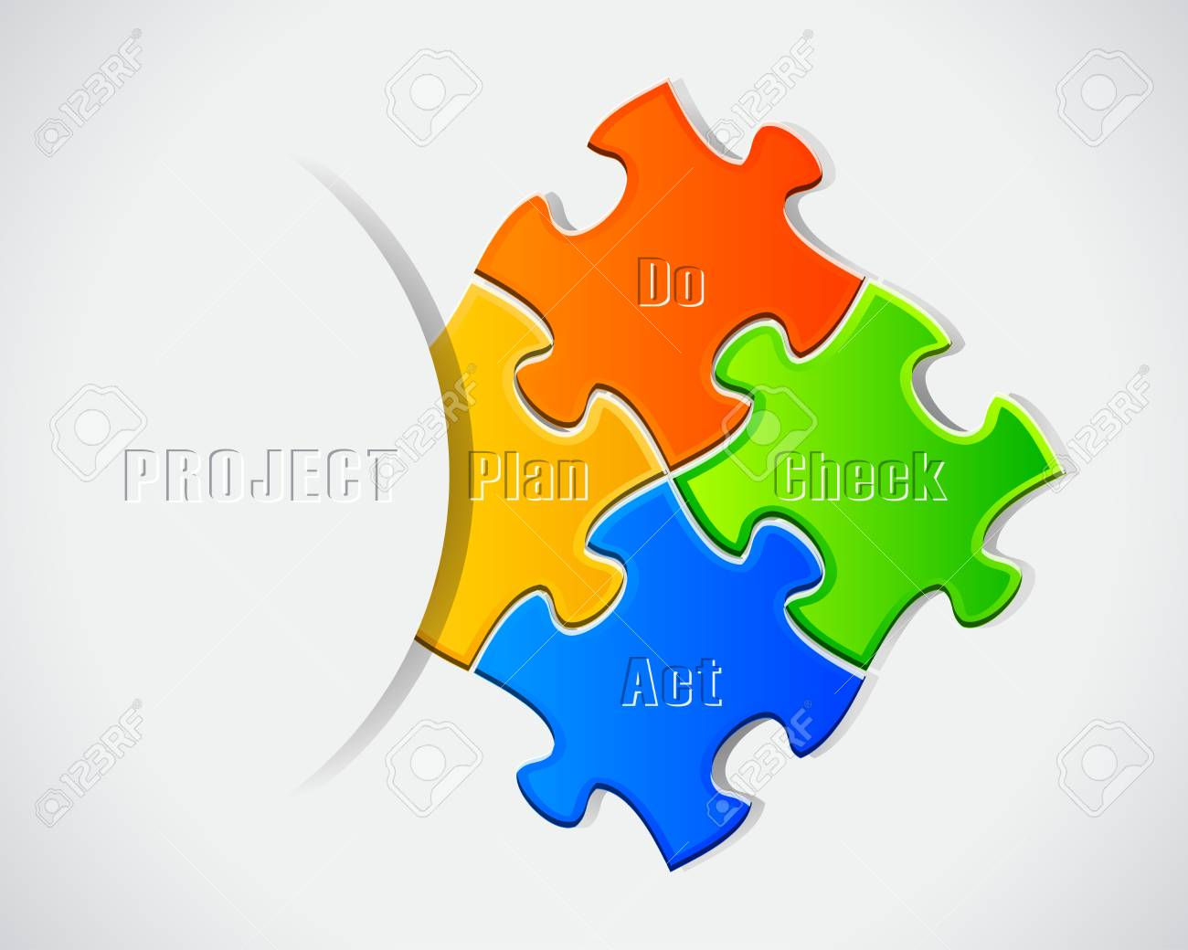The Four Pieces SWOT Puzzle For Business Concept Stock Vector - 15976344