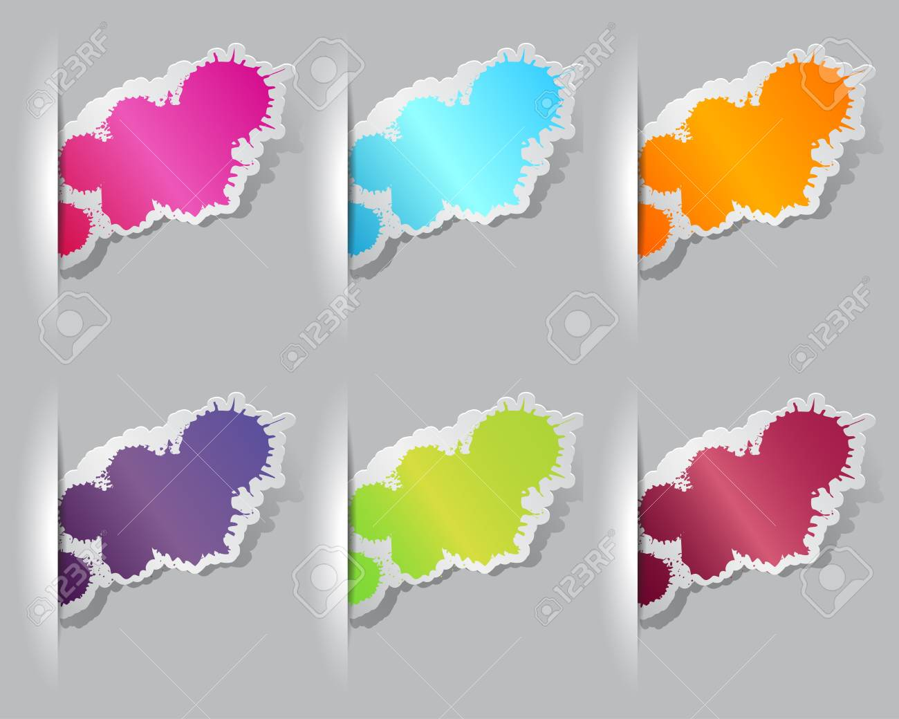 Collection of colorful grunge splatter Stock Vector - 15976355