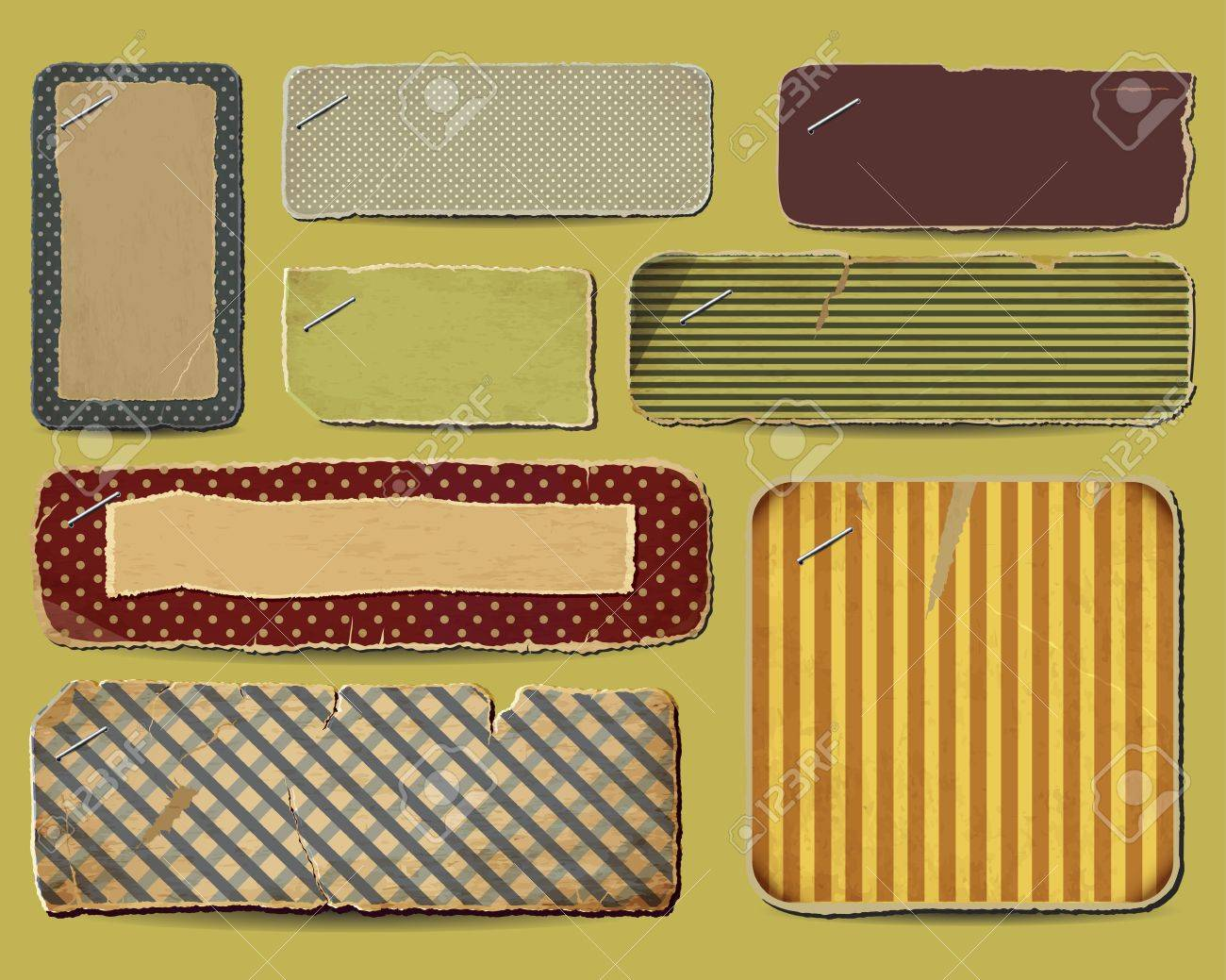 Collection of retro paper for your layouts Stock Vector - 16293235
