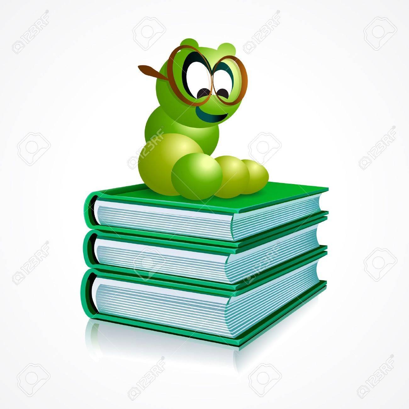 Bücherwurm clipart  Bücherwurm Lizenzfreie Vektorgrafiken Kaufen: 123RF