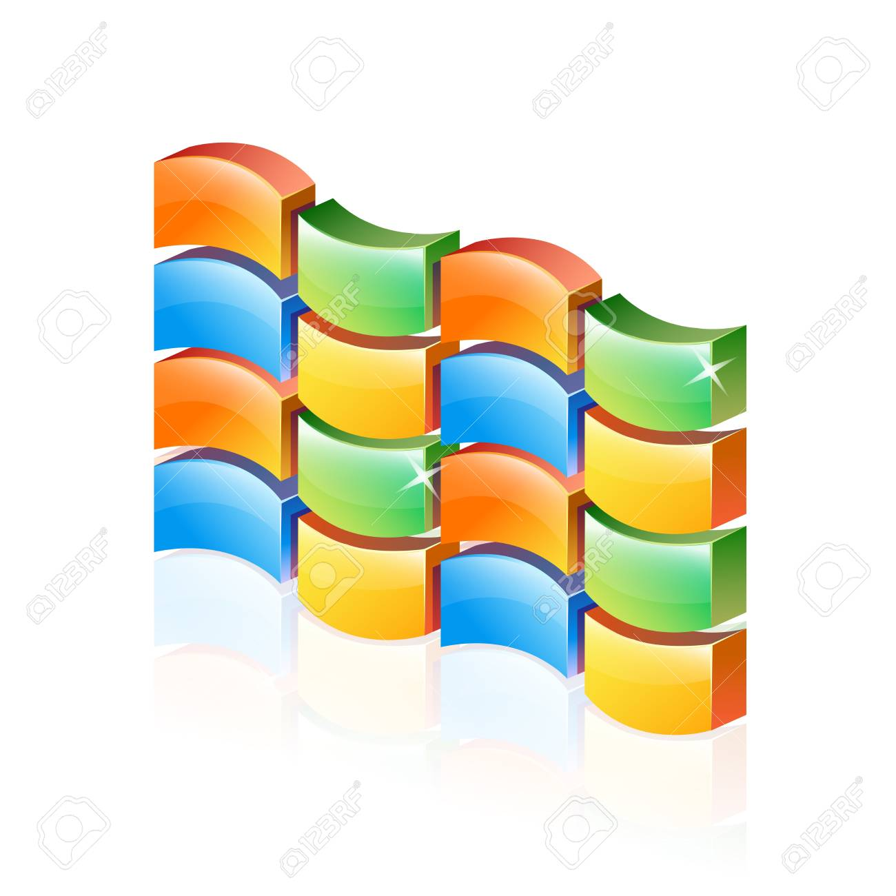 Abstract 3d Colorful firewall Stock Vector - 16940135