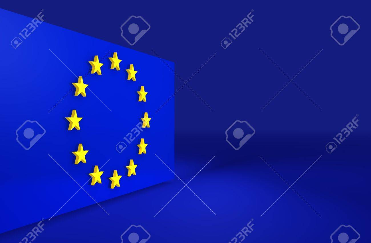 European Union 3d Background For Slides And Presentations Stock