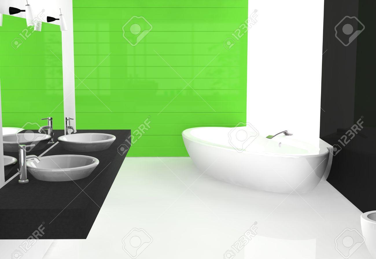 bagno di lusso moderno design contemporaneo e mobili, colorate in ... - Bagni Colorati Moderni