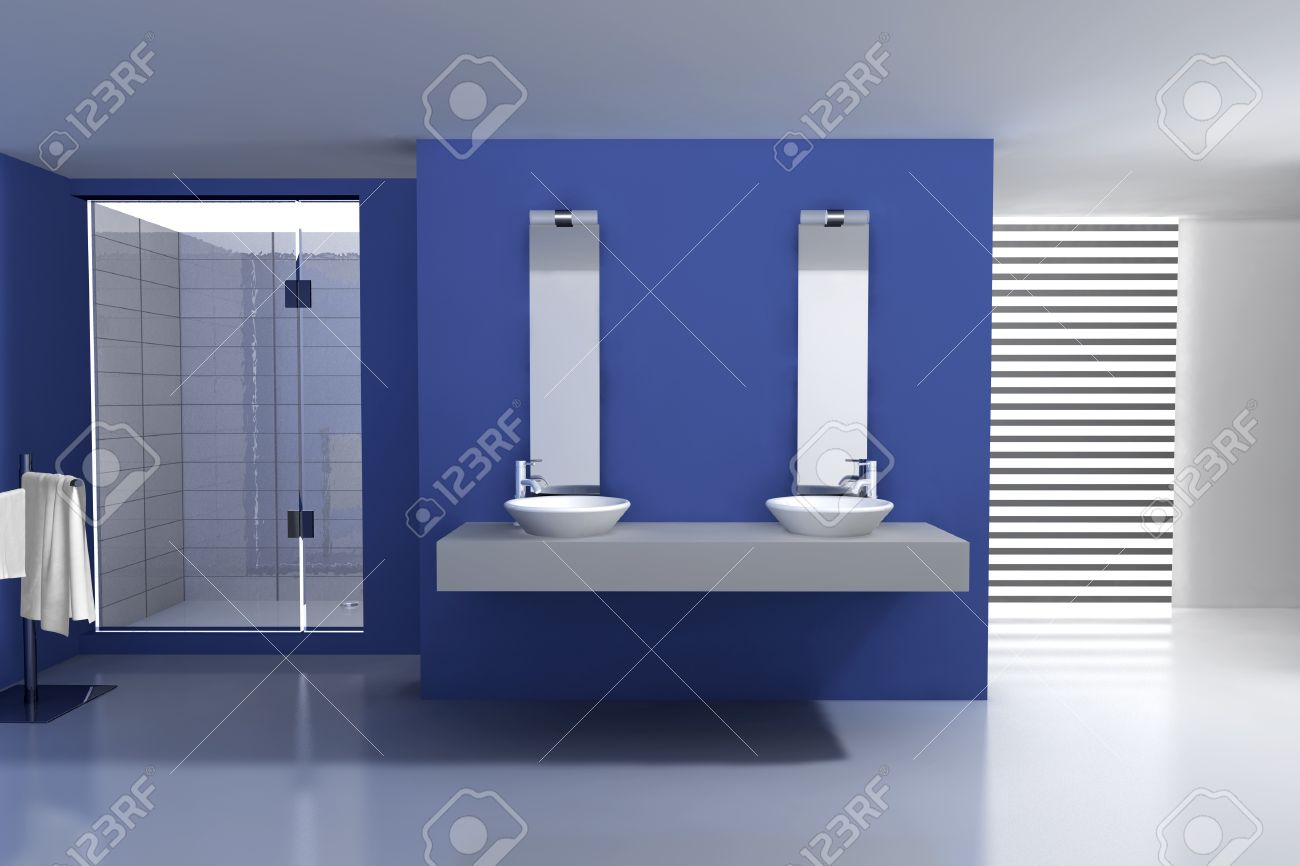 Bagni Blu Mosaico : Bagno moderno mosaico blu: mosaico bagno moderno download bagno