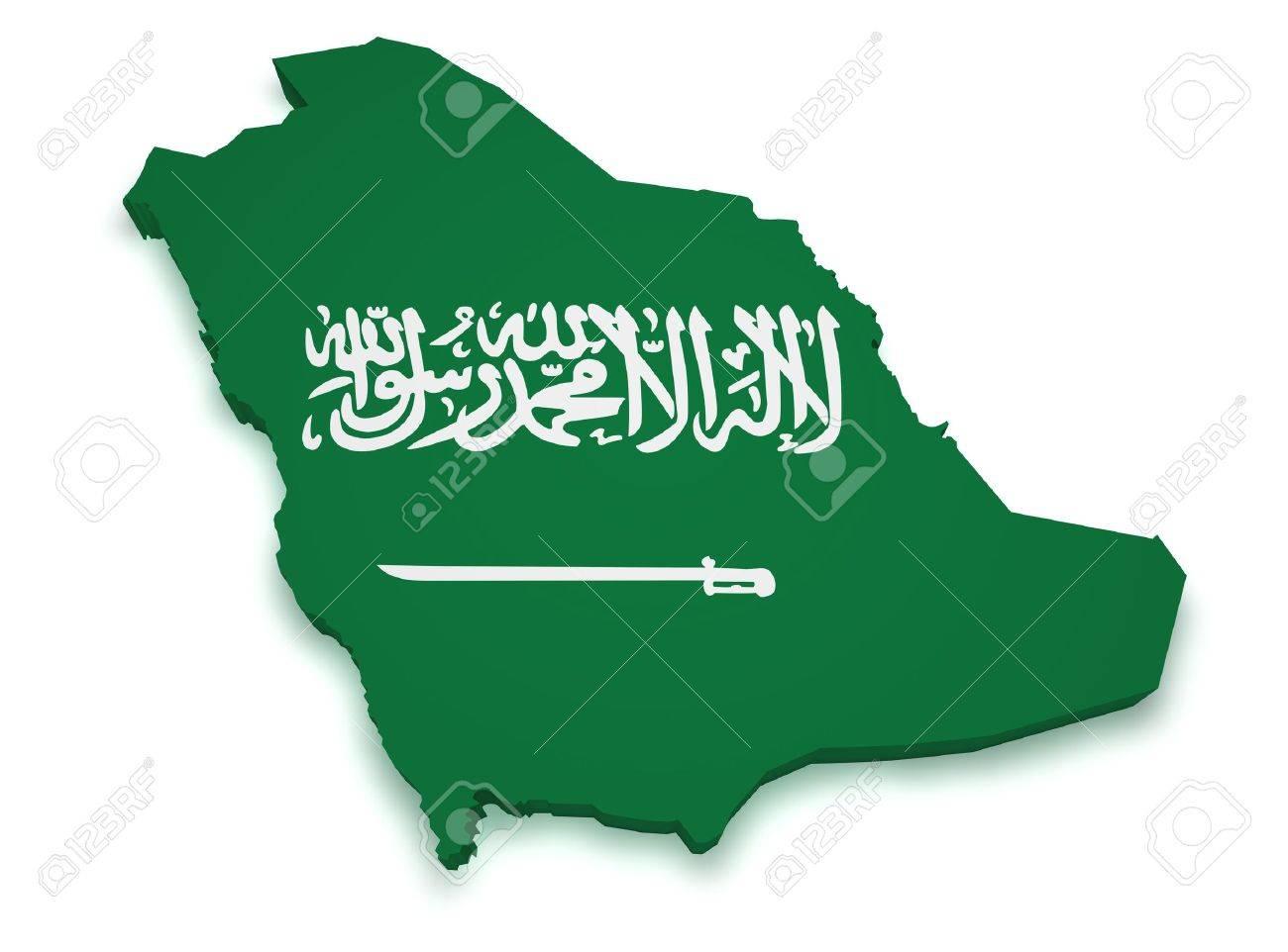 Saudi Arabia Map 3d Shape 3d of Saudi Arabia Flag
