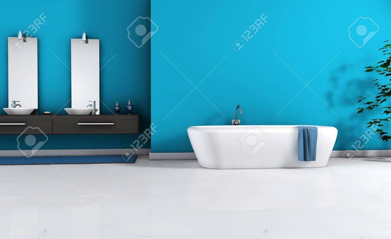 Home interieur van een moderne badkamer met een modern design en ...