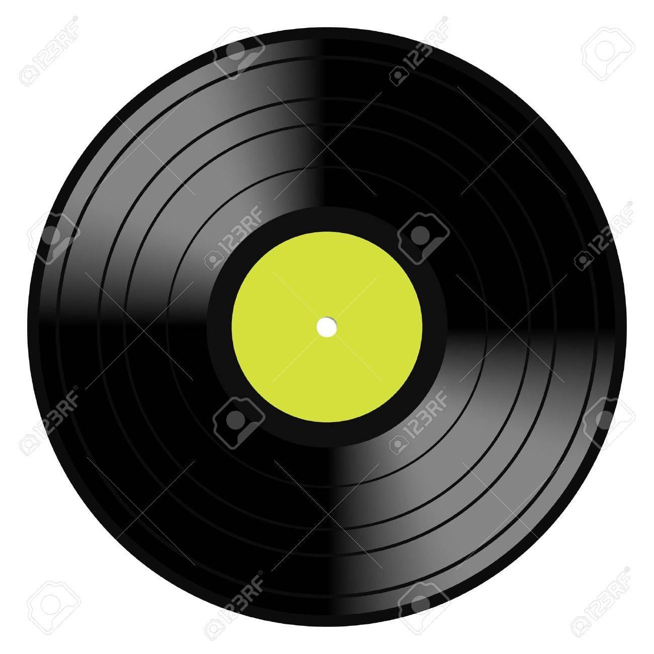 Imagen Vectorial De Una época Y Analógica Disco LP 33 RPM Disco De ...