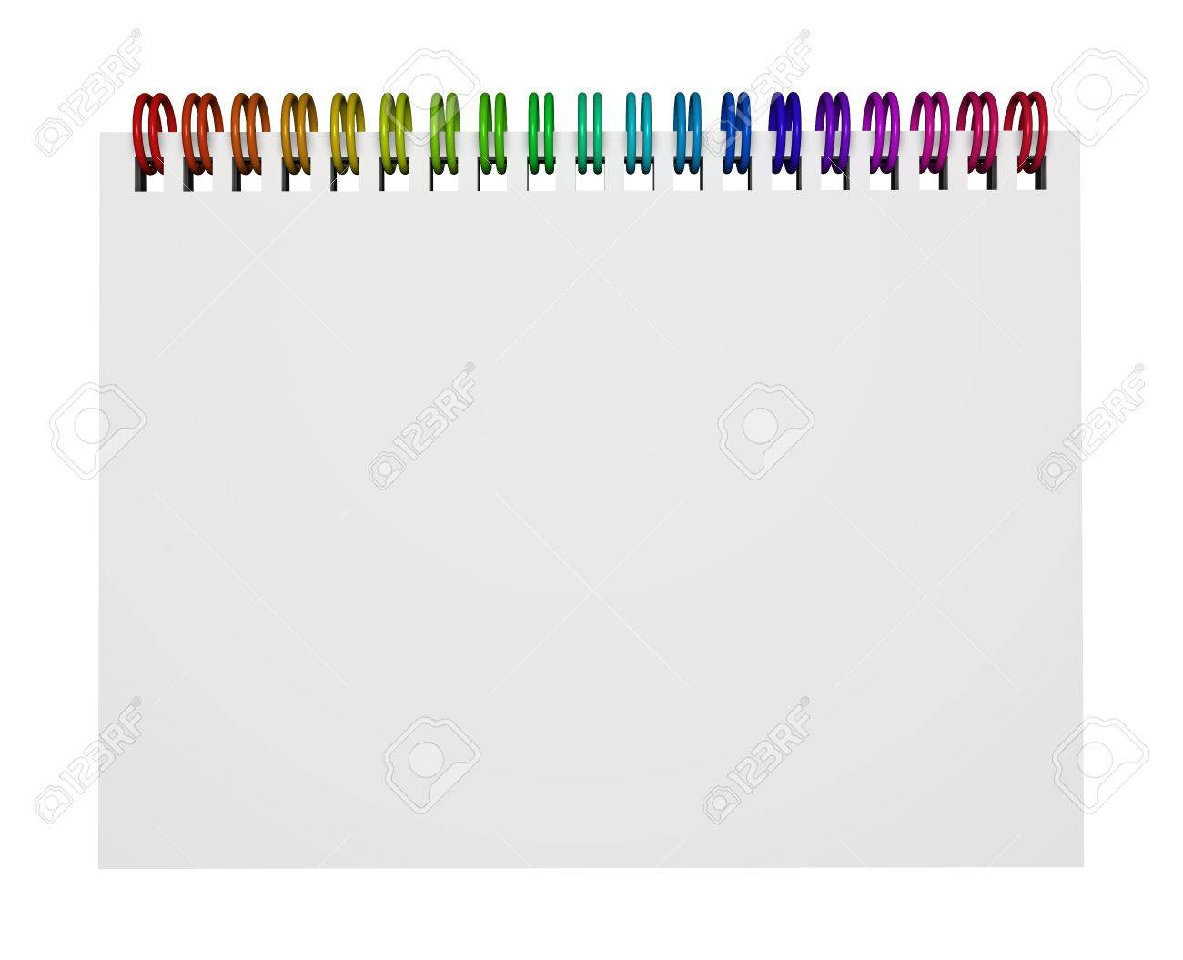 Crayon Rings Top View Of A Notebook Or Ring Binder With Rainbow Colorful Rings
