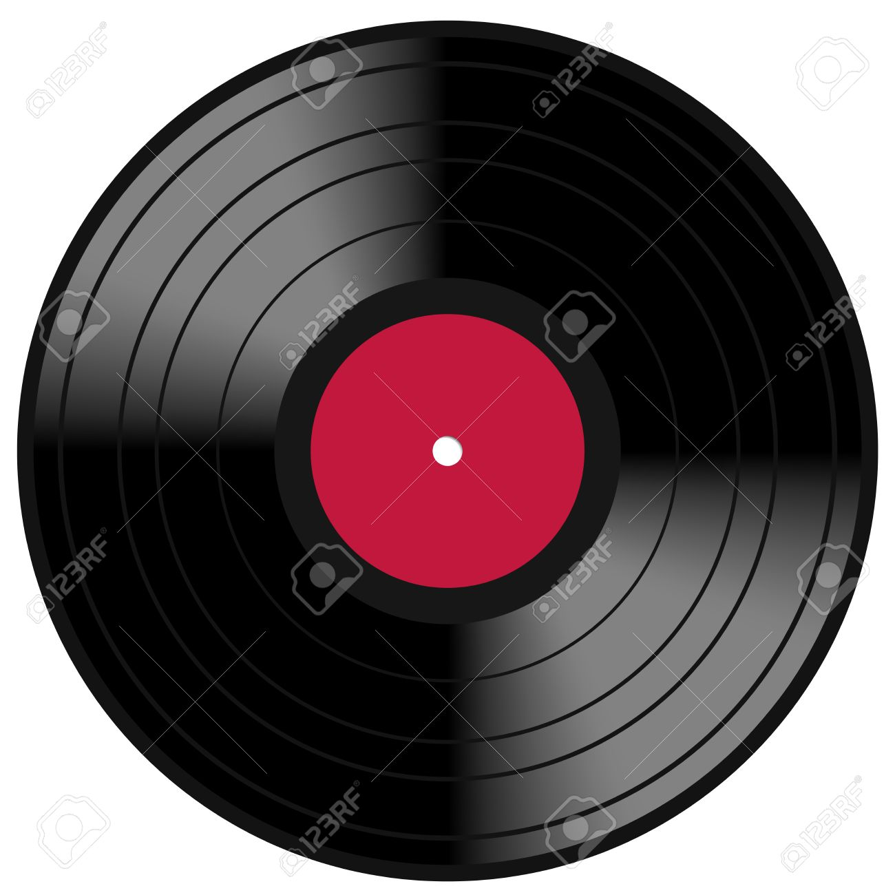 image of a vintage and analog 33 rpm lp vinyl disc record with