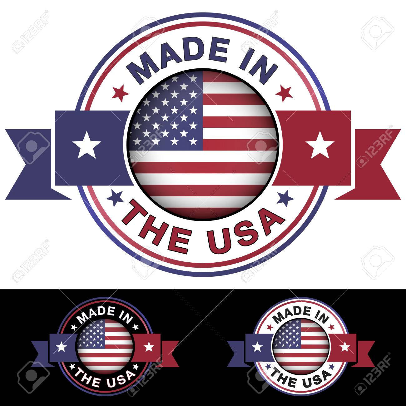 Made in the usa label and icon with ribbon and central glossy made in the usa label and icon with ribbon and central glossy united states of america buycottarizona