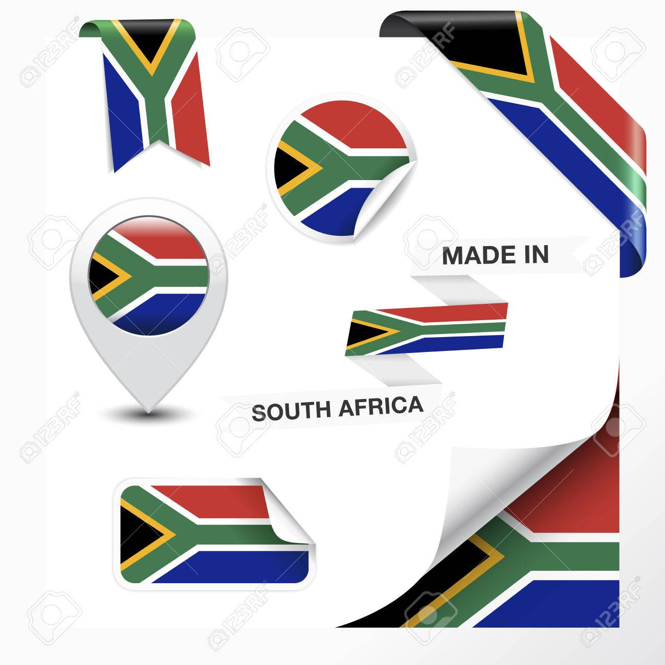 233 Made In South Africa Stock Vector Illustration And Royalty ...