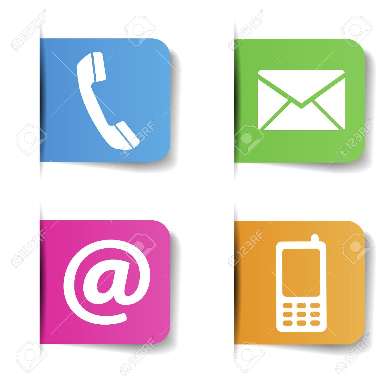 Contact us web and internet colorful icons and e mail design contact us web and internet colorful icons and e mail design symbols on paper with biocorpaavc