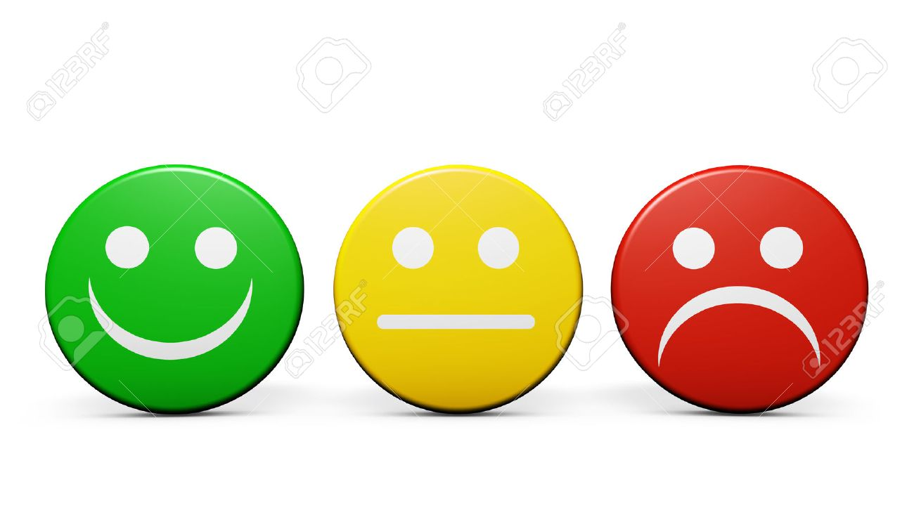 Customer service and product quality feedback concept with three