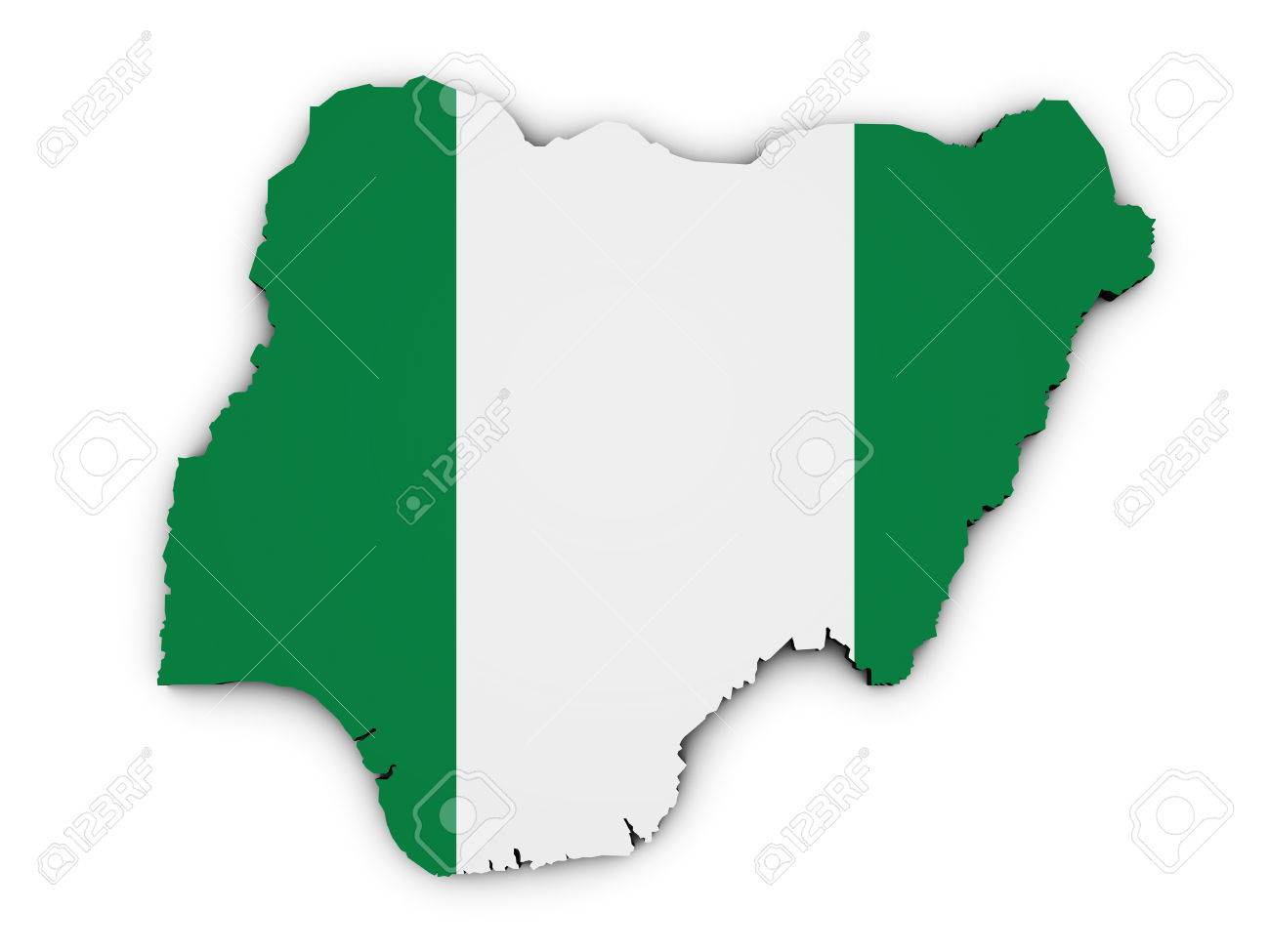le nigeria drapeau