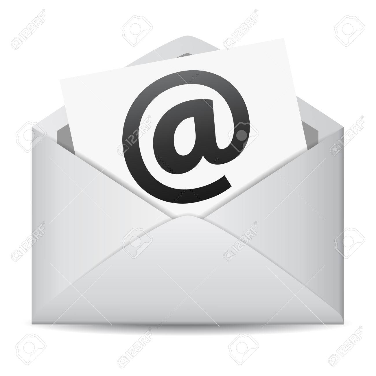 Mail Iconenvelope Outline Clipartletter Clipartemail Scientific Wiring Harness Clipart Of An Email Envelope Dodge Neon 39596277 E Web Contact And Business Newsletter Concept With Icon Black At