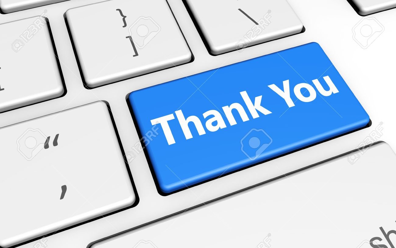 Thank You Sign And Letters On Computer Keyboard Marketing And
