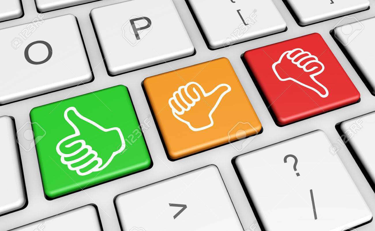 Business quality service customer feedback rating and survey business quality service customer feedback rating and survey keys with hands thumb up symbol and biocorpaavc Images