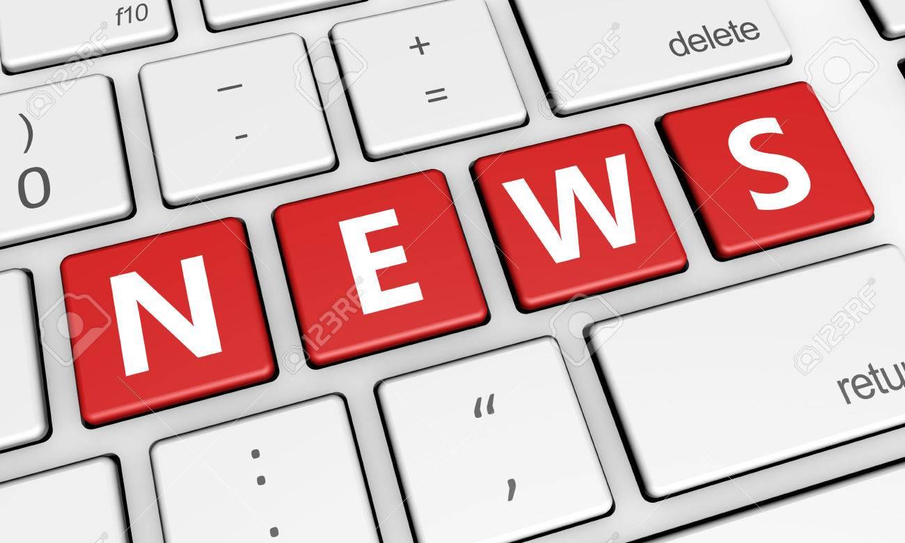 ニュース、デジタル メディアやオンライン情報概念ニュース ワードと
