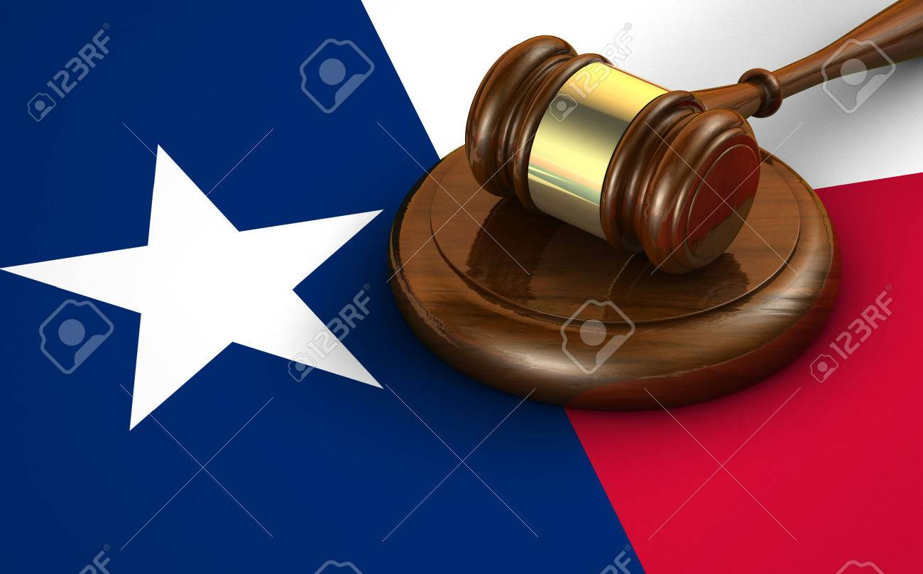 Texas us state law, code, legal system and justice concept with