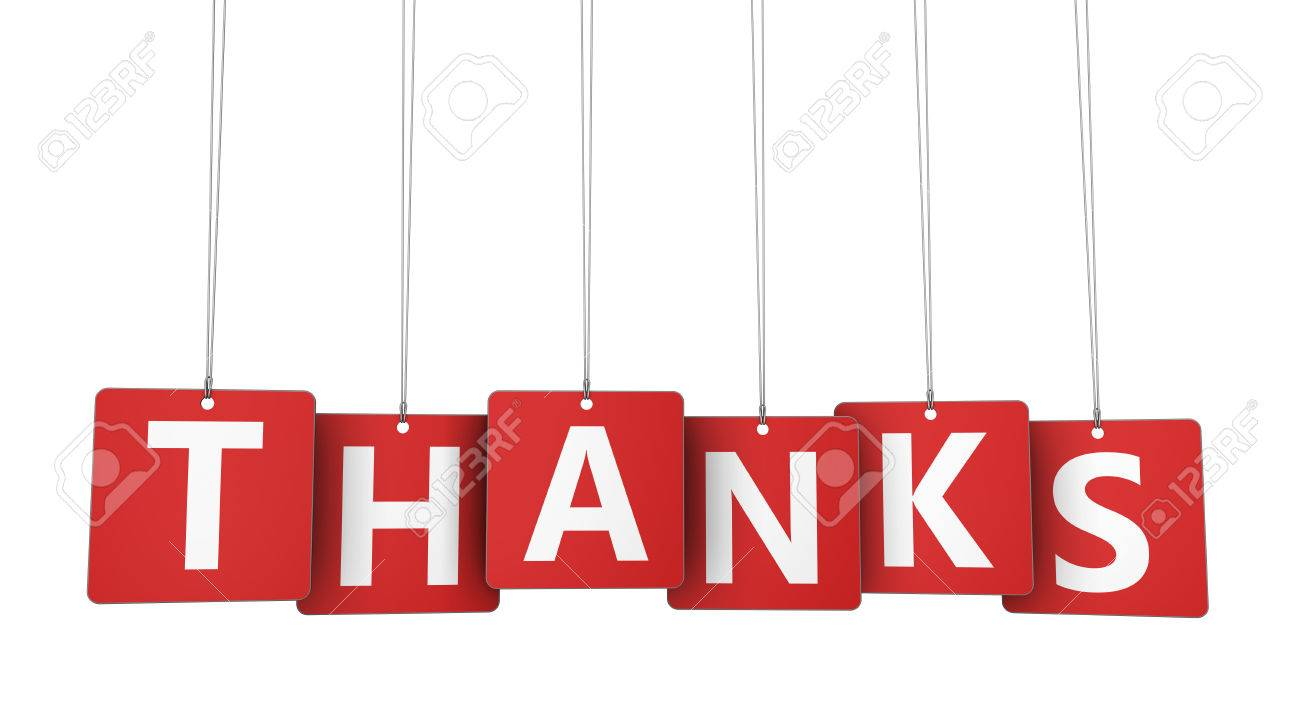 Thanks Sign And Letters On Hanged Red Paper Tags Marketing And ...