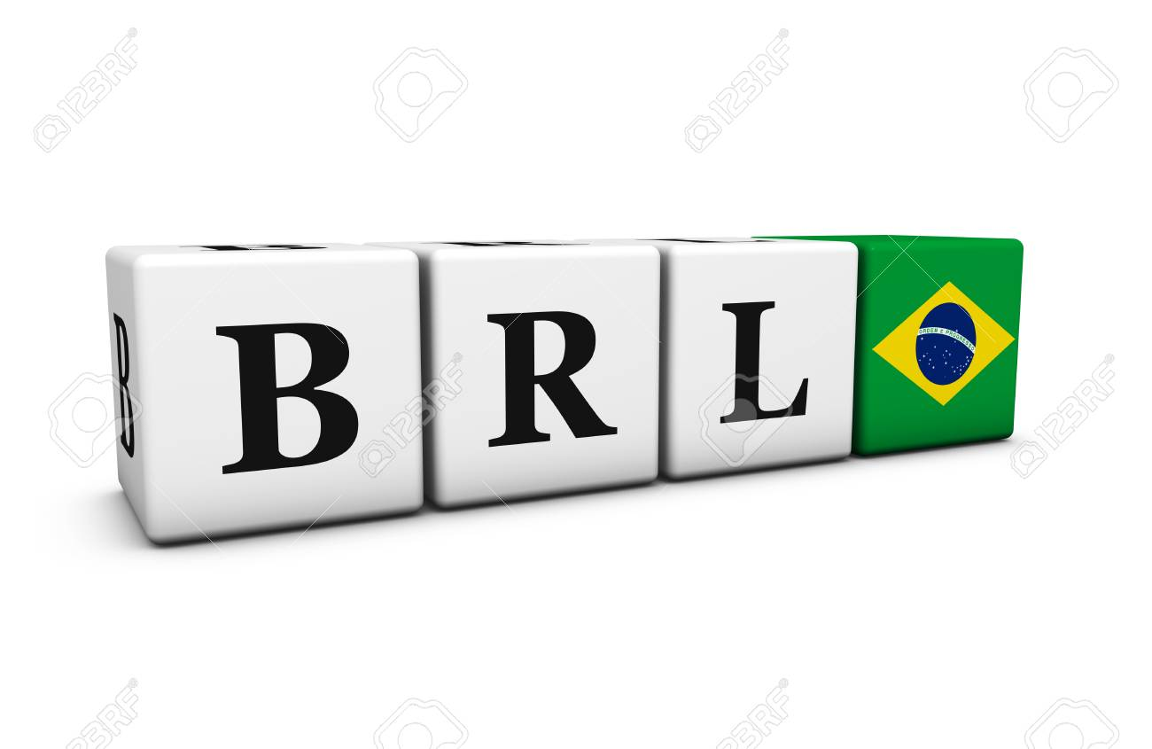 Brazil real currency exchange market and financial trading concept brazil real currency exchange market and financial trading concept with brl code sign and the brazilian biocorpaavc Image collections