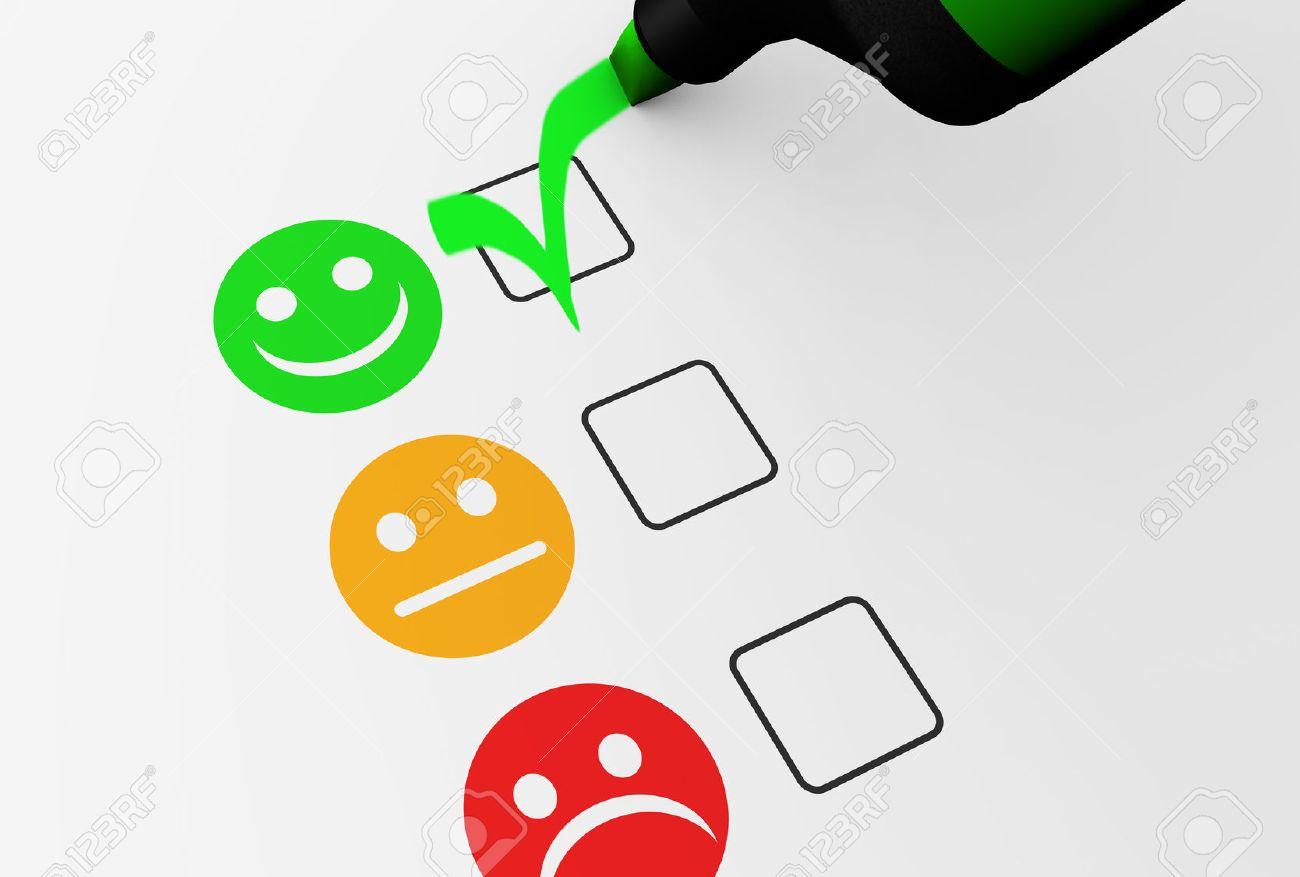 La Satisfaction Client Du Client Satisfaction Note Des Commentaires Heureux Liste De 082904