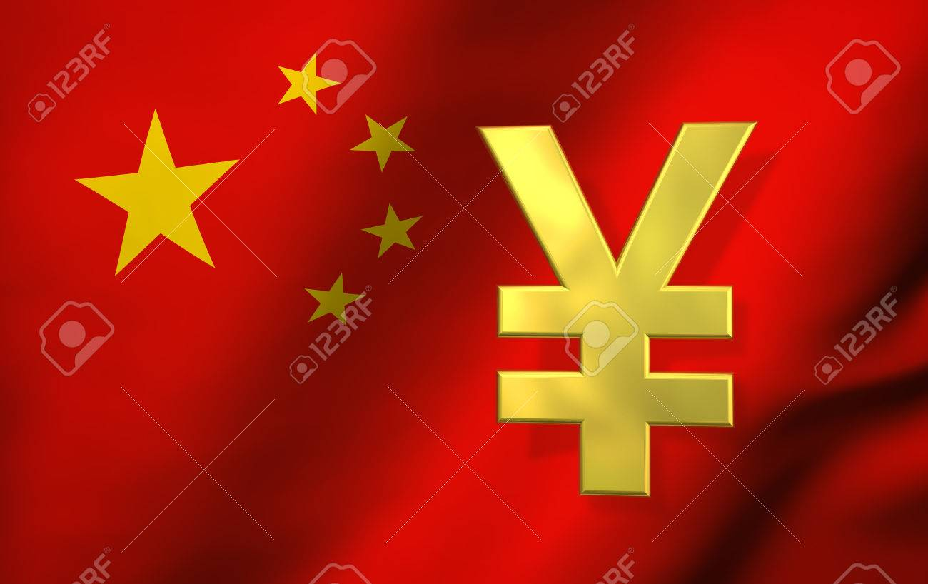 China economy concept with yuan renminbi currency symbol and stock china economy concept with yuan renminbi currency symbol and chinese flag on background 3d illustration buycottarizona Gallery
