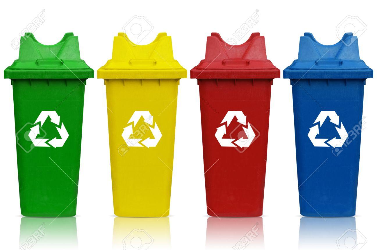 Assez Types De Bacs De Recyclage Avec Bac Vert, Jaune, Rouge Et Bleu  RY11