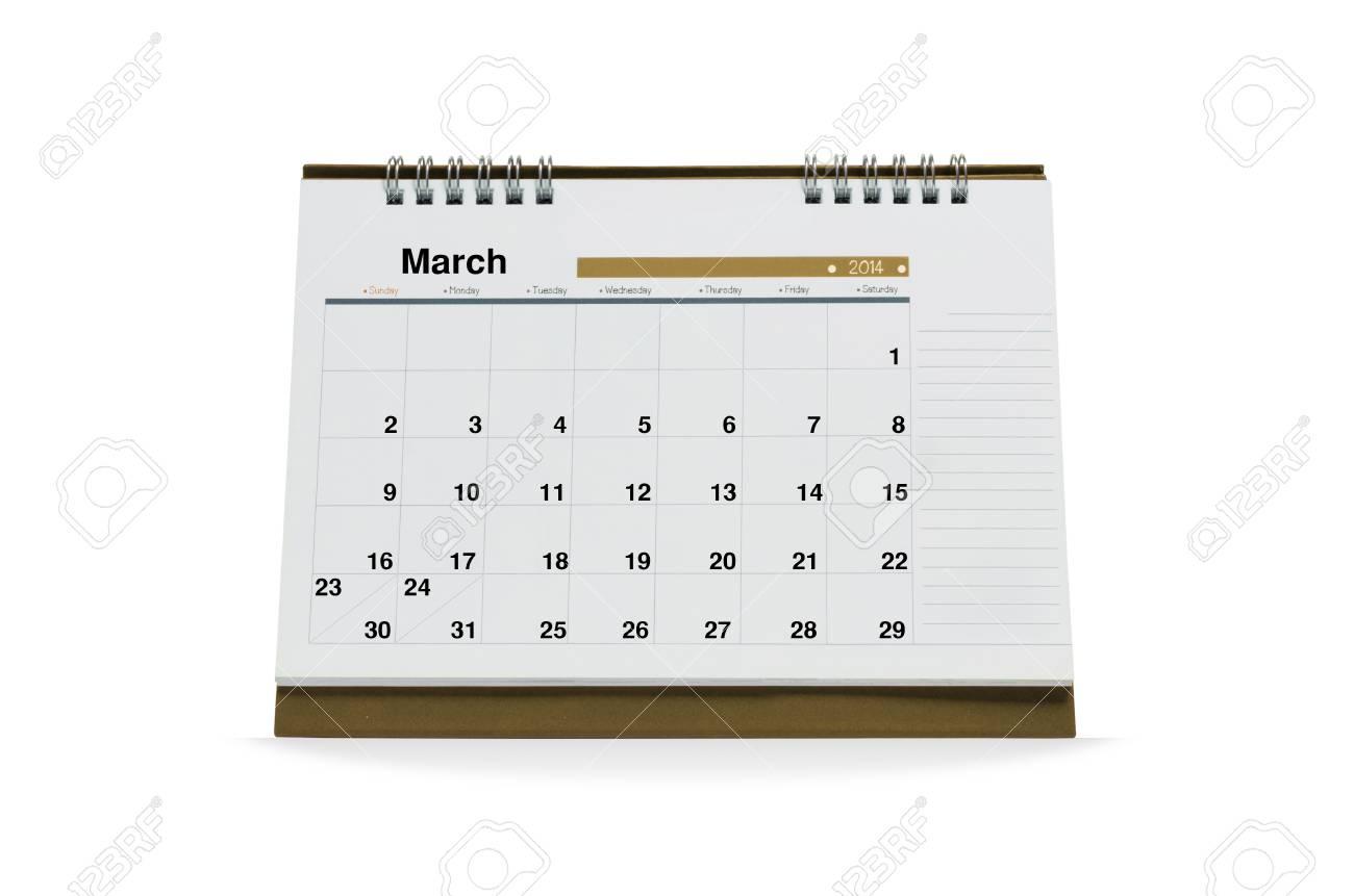 Calendario Di Marzo.Il Calendario Di Marzo E Vuoto Isolato Su Fondo Bianco Con I Percorsi Di Ritaglio