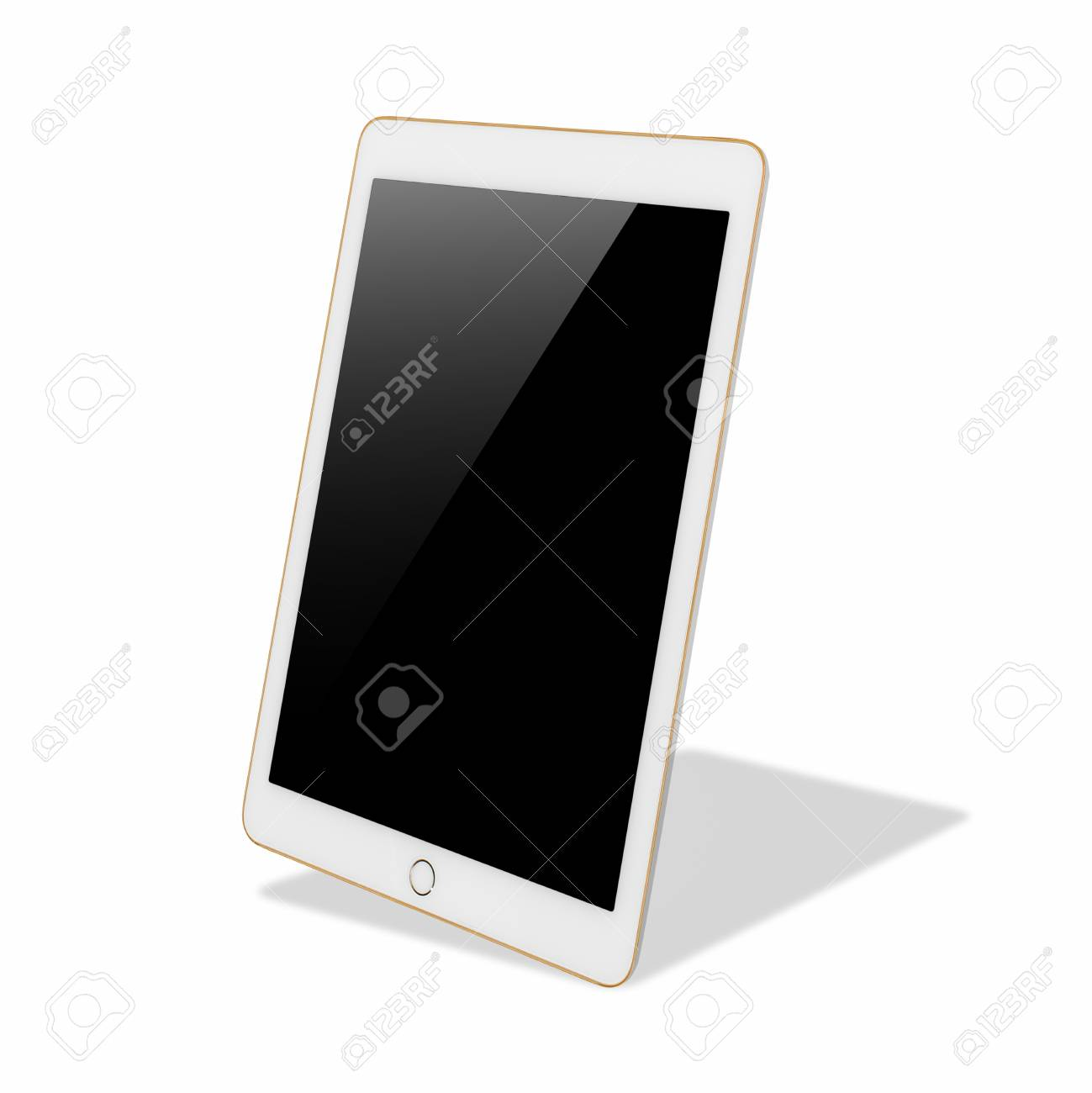 Digital Tablet Computer With Blank Black Screen, The Frame Is ...