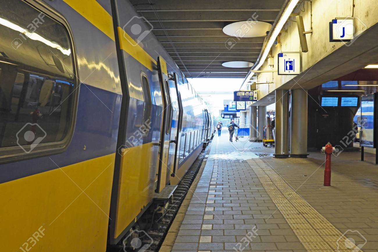 Train Waiting At Utrecht Station In The Netherlands Stock Photo Picture And Royalty Free Image Image 20804632