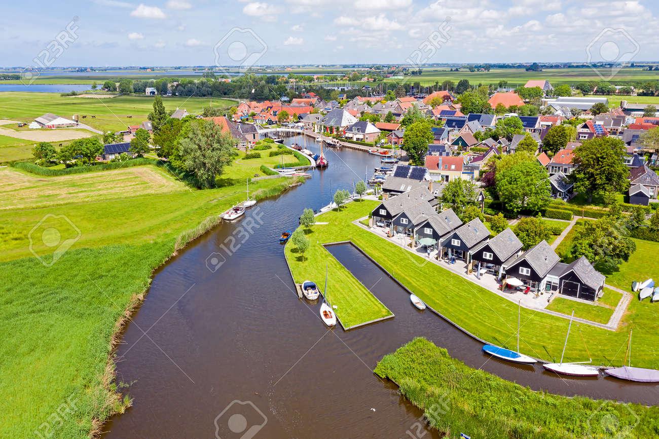 Aerial from the village Gaastmeer in Friesland the Netherlands - 172331722