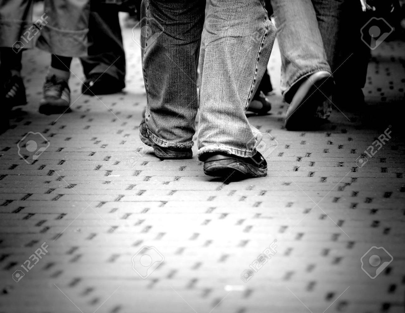 Walking through the street crowd Stock Photo - 1134536