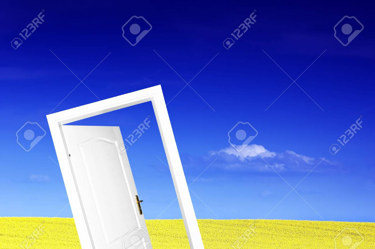 Door to new world. Ready to use or edit Stock Photo - 3100350