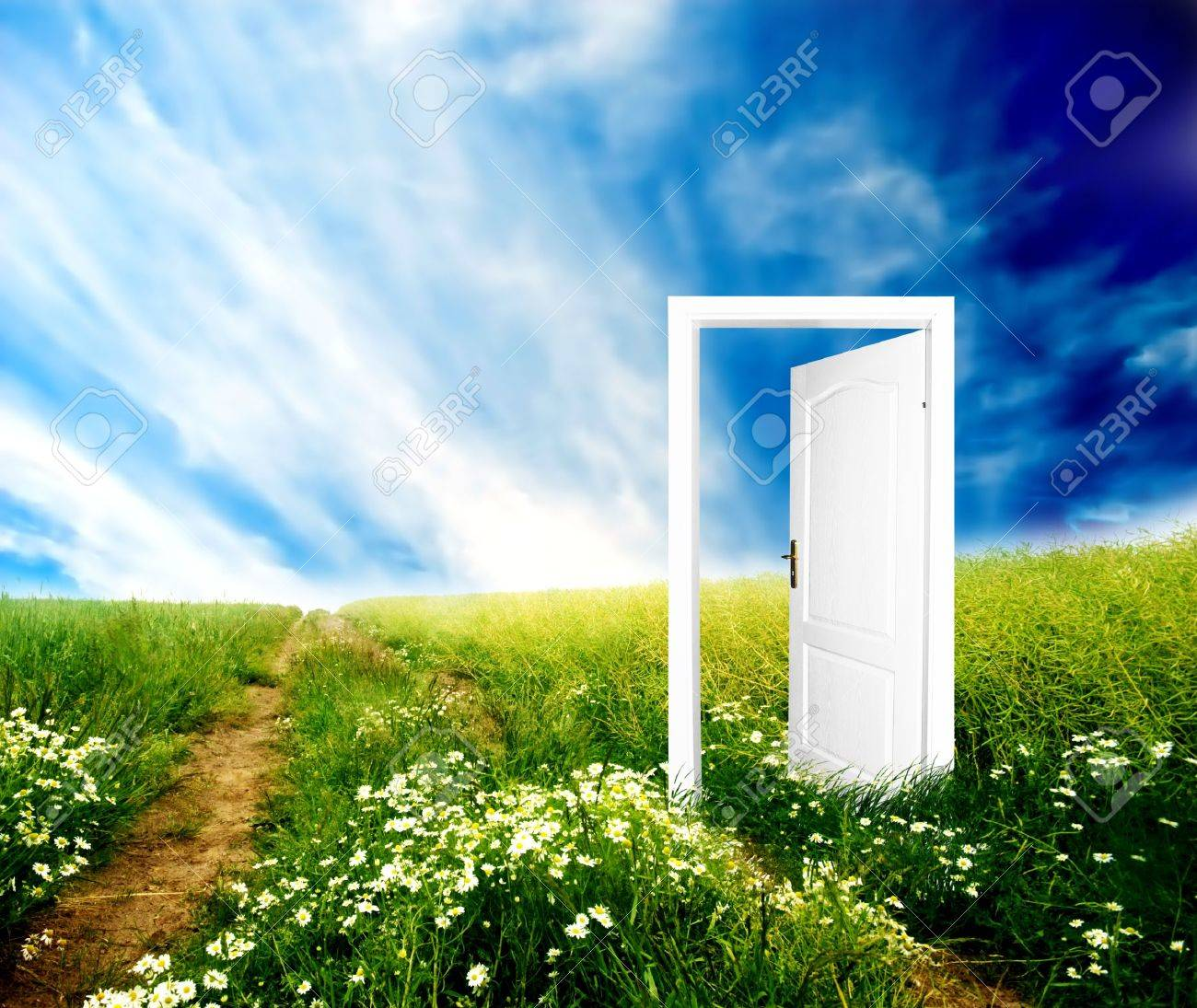 Door to new world. Colourful, bright, great quality. Stock Photo - 3259303