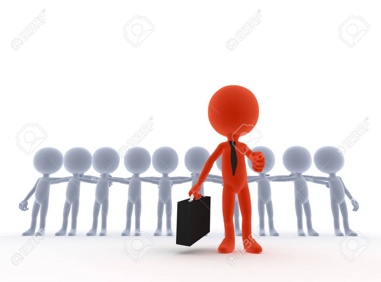 business team leader boss concept d people stock photo picture business team leader boss concept 3d people stock photo 13150375