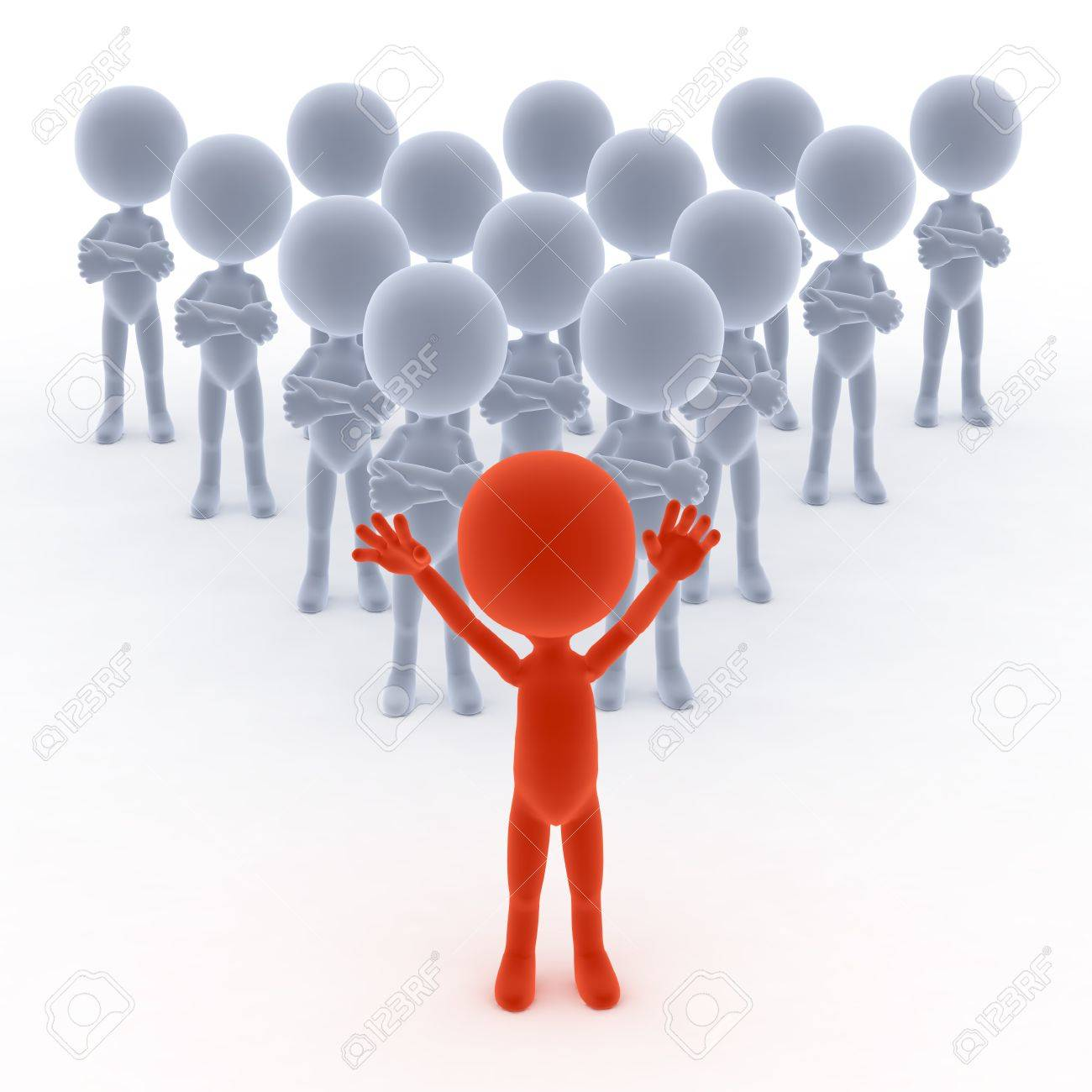 business team leader his people d little humans stock photo business team leader his people 3d little humans stock photo 13150442