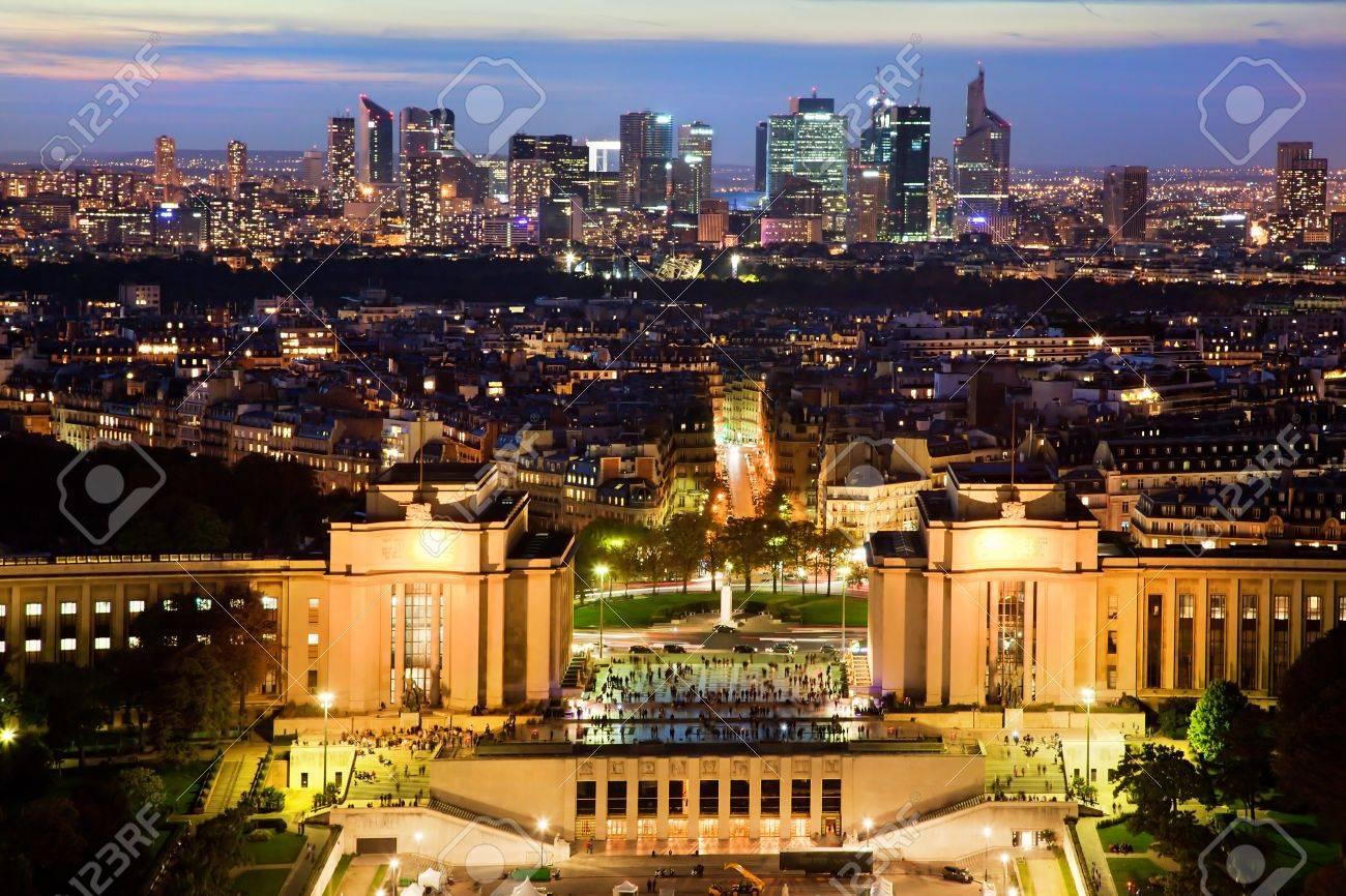 Обои дефанс, france, ночь, la défense, paris. Города foto 12