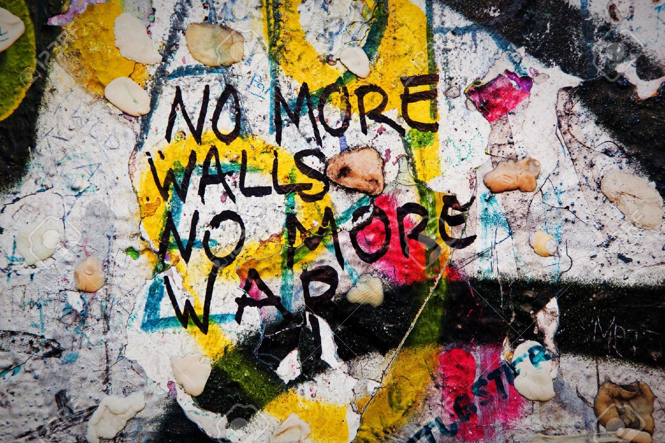 Grafiti wall berlin - Part Of Berlin Wall With Grunge Graffiti Potsdamer Platz Berlin Germany Stock Photo