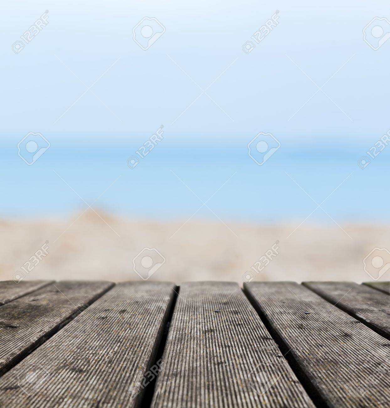 Grunge Rustic Real Wood Boards On The Beach Shore Ocean Background Place For An Object