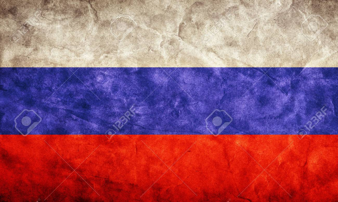 russia grunge flag. vintage, retro style. high resolution, hd