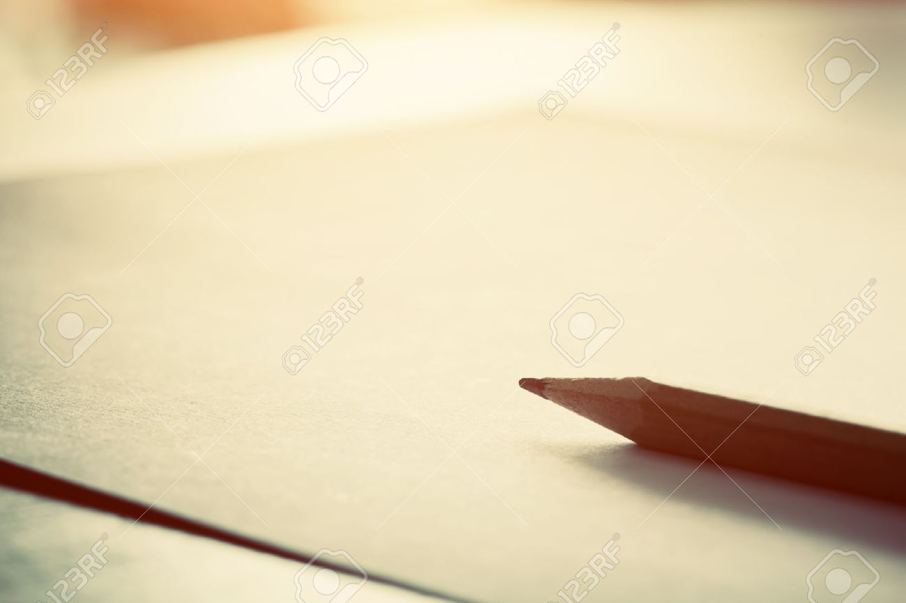 Writing on blank paper
