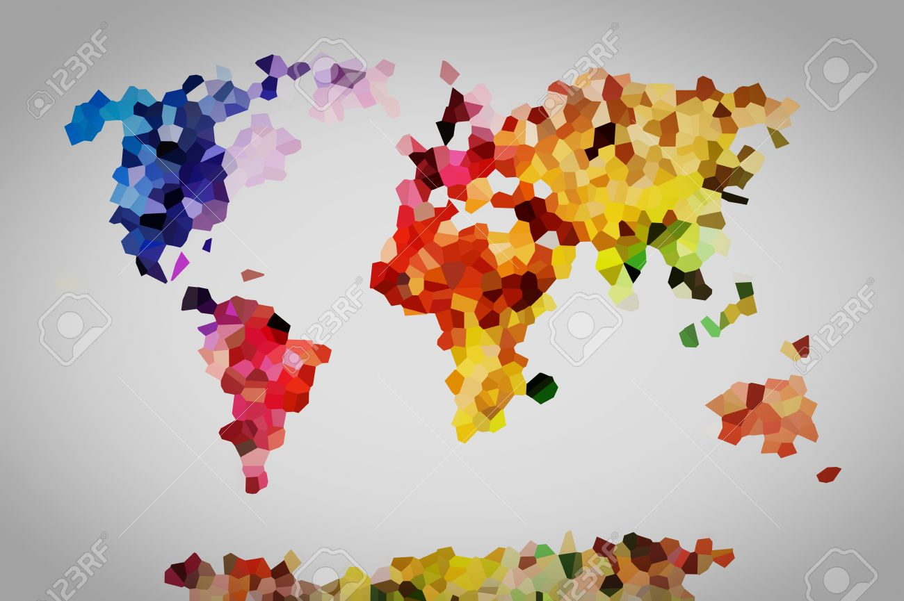 Low Poly Colorful World Map Perfect High Resolution Background – Map World High Resolution