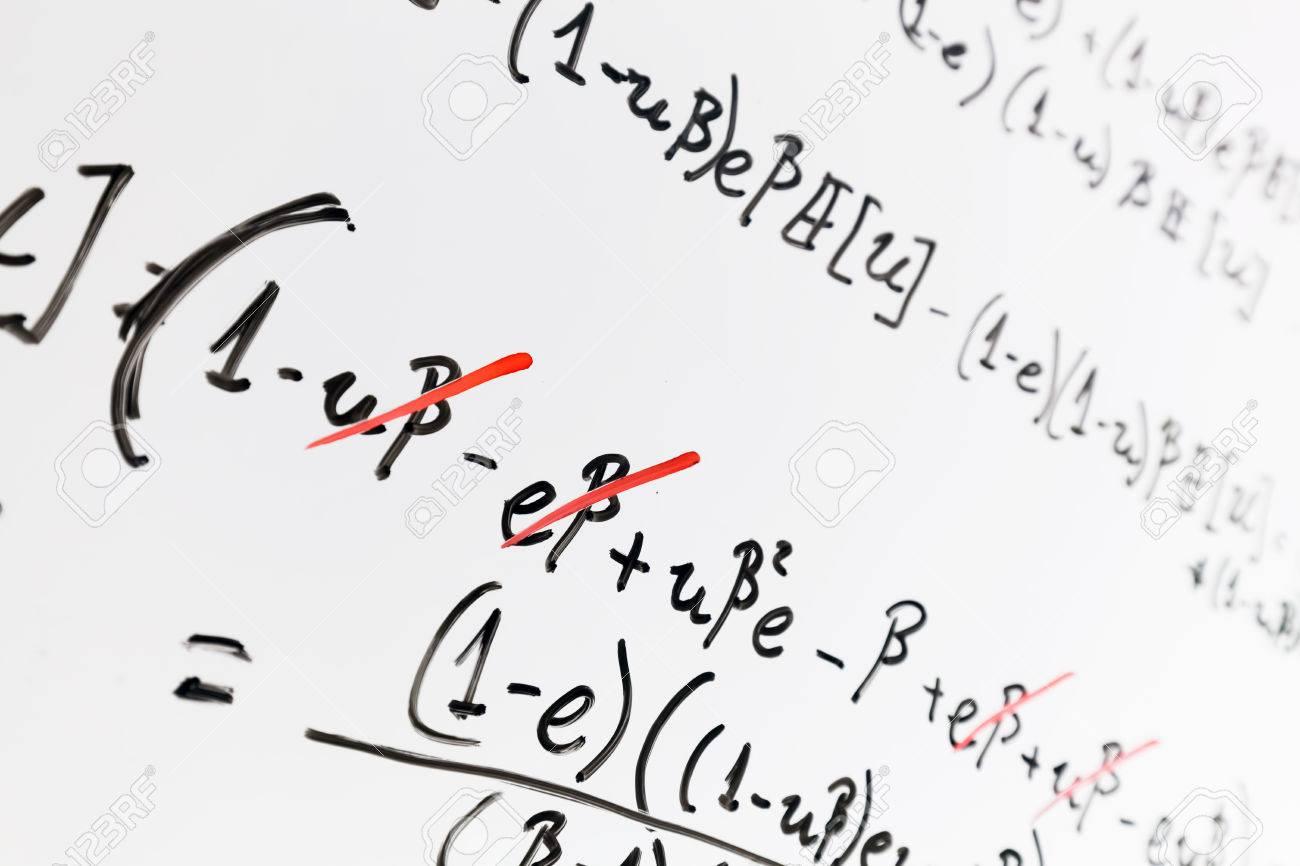 Complex math formulas on whiteboard mathematics and science complex math formulas on whiteboard mathematics and science with economics concept real equations biocorpaavc